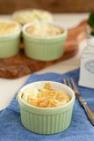 Broccoli ham souffle Stock Images