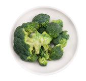 Broccoli head  in white  bowl , isolated Stock Photo