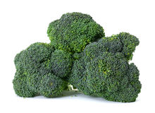 Broccoli heads. The common supermarket variety of the vegetable broccoli Royalty Free Stock Photos