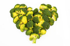 Broccoli heart Royalty Free Stock Images
