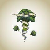 Broccoli with heraldic ribbon Royalty Free Stock Photo