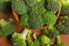 Broccoli in i en bunke Fotografering för Bildbyråer