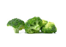 Broccoli isolated on white ackground Stock Photos