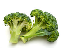 Broccoli. Isolated on white background Royalty Free Stock Photo