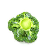 Broccoli isolated on a white background. Closeup broccoli isolated on a white background Stock Image