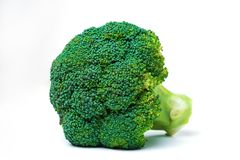 Broccoli isolated on white background. Fresh ripe vegetables, vitamins stock photo