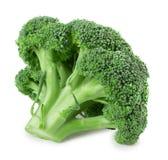 Broccoli isolati su fondo bianco Fotografie Stock Libere da Diritti