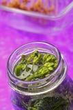 Broccoli in jar Stock Image