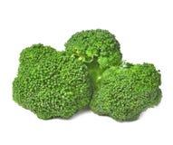 Broccoli lagad mat isolerad vit bakgrund Arkivfoto
