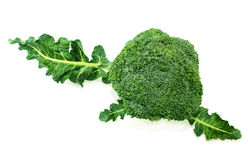 Broccoli with leaves Stock Photo
