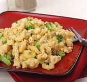 Broccoli Macaroni and Cheese Stock Photography