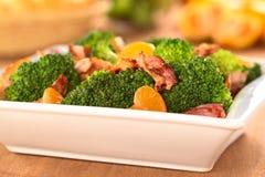 Broccoli Mandarin Bacon Salad Stock Photos