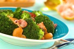 Broccoli, Mandarin and Bacon Salad Royalty Free Stock Images