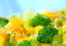 Broccoli-Mango-Carrot-Lettuce Salad Stock Photo