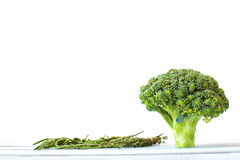 Broccoli with the measuring tape Royalty Free Stock Photography