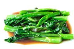 Broccoli met Oestersaus Stock Foto's