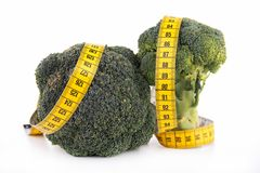 Broccoli and meter Royalty Free Stock Photos