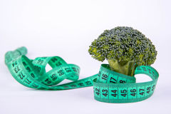 Broccoli and meter Royalty Free Stock Photography