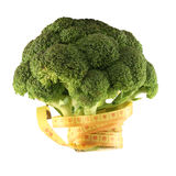 Broccoli with a metre-stick Royalty Free Stock Photography
