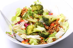 Broccoli and Mung bean salad Stock Photos