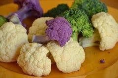 Broccoli och blomkål Arkivfoton