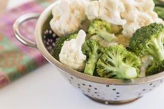 Broccoli och blomkål Royaltyfri Bild