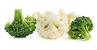 Broccoli och blomkål Arkivbilder
