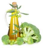 Broccoli och olivolja Arkivbild
