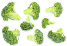 Broccoli on old wooden background. top view.  Royalty Free Stock Images