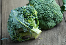 Broccoli on old wooden Royalty Free Stock Photos