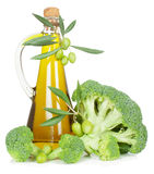Broccoli and olive oil Stock Photography