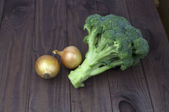 Broccoli and onions Royalty Free Stock Image