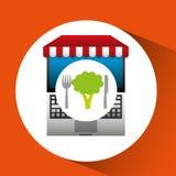 Broccoli online shopping app Stock Photos
