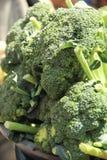 Broccoli op een straatmarkt Royalty-vrije Stock Afbeelding