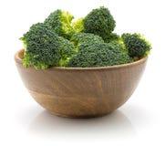 Broccoli op wit stock foto