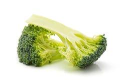 Broccoli op wit Stock Afbeeldingen