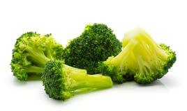 Broccoli op wit royalty-vrije stock foto
