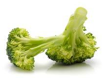 Broccoli op wit stock foto's