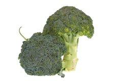 Broccoli op wit Royalty-vrije Stock Afbeeldingen