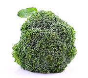 Broccoli op Witte Achtergrond Stock Fotografie