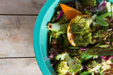 Broccoli and orange salad Royalty Free Stock Photos