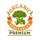 Broccoli organisch gezond plantaardig embleem vector illustratie