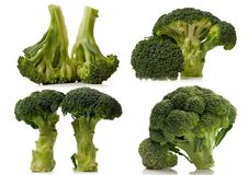 Broccoli over white Royalty Free Stock Image