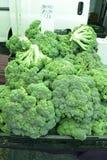 Broccoli på de lokala bönderna marknadsför, inga bekämpningsmedel Fotografering för Bildbyråer