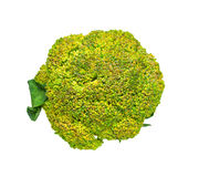 Broccoli on the pan on white isolate background with clipping pa Royalty Free Stock Image