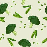 Broccoli pattern Royalty Free Stock Images