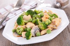 Broccoli,pea and mushroom Royalty Free Stock Images