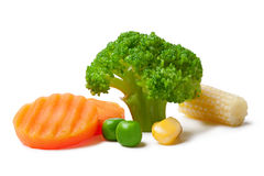 Broccoli, peas, carrot and maize Royalty Free Stock Image