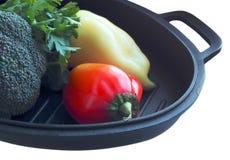 Broccoli peppar, gröna lövrika grönsaker Royaltyfri Fotografi