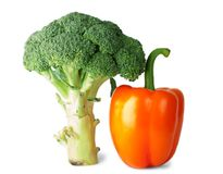 Broccoli and pepper Stock Photos
